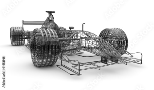Wireframe formula 1 car © Cla78