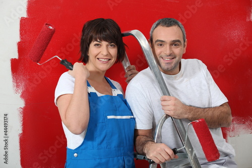 Couple with hand roller