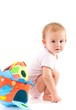 Cute baby with toys