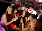 Hot bachelorette party in limo