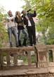 Young friends having fun outdoors