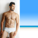 Sexy handsome man in underwear