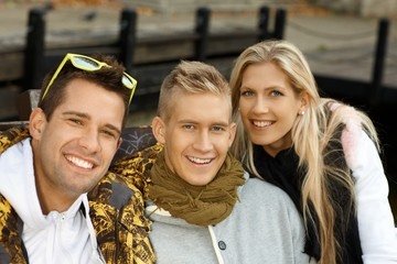 Portrait of attractive young people smiling
