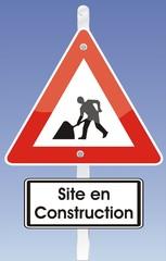 panneau site en construction