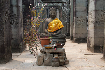 Buddha Statue im Bayon Tempel