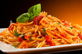 Fototapety Pasta with tomato sauce and parmesan