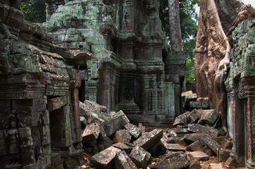 Innenbereich des Ta Prom Tempels, Kambodscha