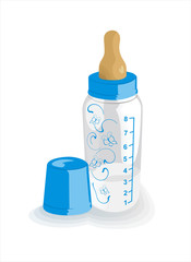 Feeding bottle for the boy
