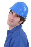 portrait of blue collar