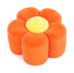 Orange velvet gift box