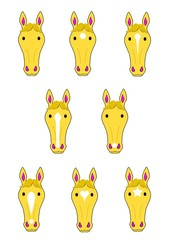 馬の顔いろいろ