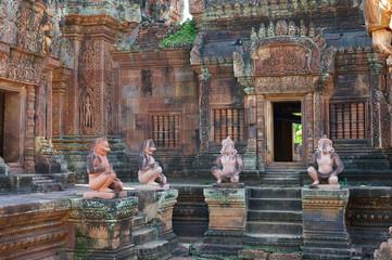 Im Banteay Srei Tempel bei Angkor