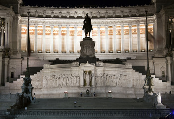 """Detail of the """"Vittoriano"""", Rome, Italy"""