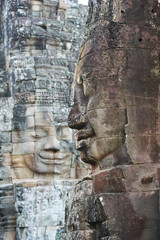 Gesichter vom Bayon Tempel in Angkor