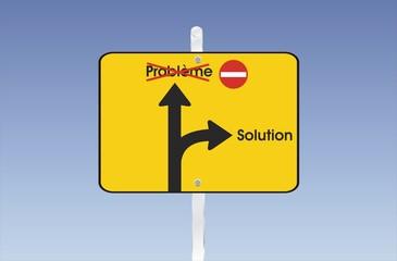 pancarte problème solution