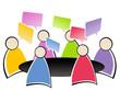 réunion au bureau - brainstorming - 44500595