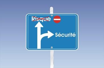 pancarte risque sécurité