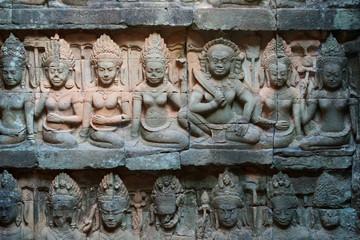 Relief an der Terrasse des Lepra Königs, Kambodscha