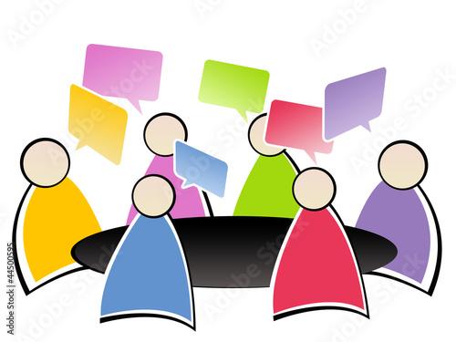 réunion au bureau - brainstorming