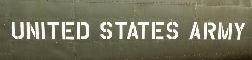 Text on an old Vietnam war Airplane displayed in Saigon