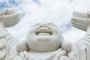 Laughing Buddha isolated