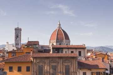 Looking over the rooftops in Florence, Italy.