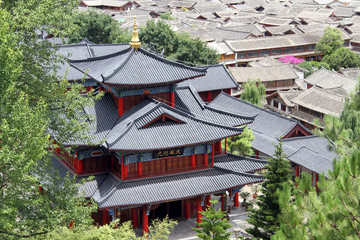 Chinese pagoda a nd roofs