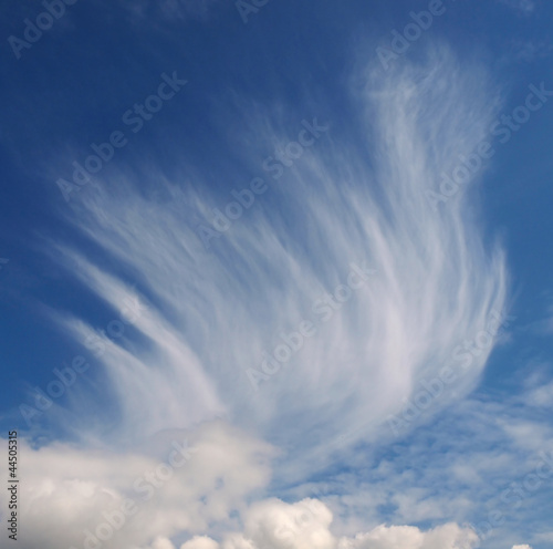 Mares tail clouds