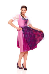 Young woman with dirndl dress 1