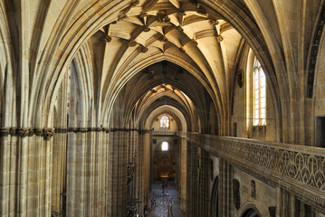 Interior of the Cathedral in Salamanca