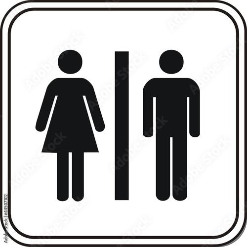 panneau wc