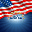 Labor Day in the American Background. Vector