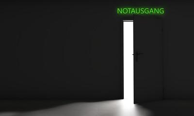 Tür mit Notausgang