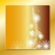 weihnachtsback gold mit schneeflocken
