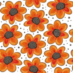 pomarańczowe kwiaty