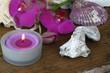 Orchidee mit Teelicht