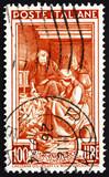 Postage stamp Italy 1950 Husking Corn, Friuli-Venezia Giulia poster