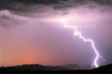 Arizona Monsoon Lightning 2012E