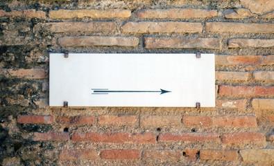 Blank stone sign