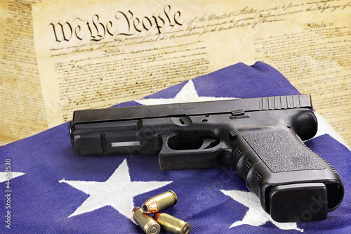 canvas print picture Handgun and Constitution