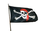 Pirate flag isolated for image montage