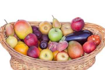 Cesta de frutas y hortalizas