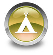 "Yellow Glossy Pictogram ""Camping Symbol"""