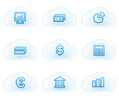 Finance web icons set 1, cloud buttons