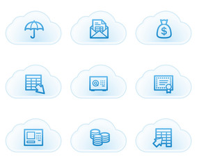 Banking  web icons, cloud buttons