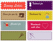 Sewing Labels, Pantone fashion colors, copy space, diy projects
