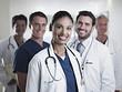 Portrait of smiling doctors and nurse