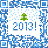 Abstract christmas background of qr-code