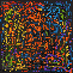 Abstract background of color mosaic elements