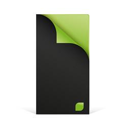 feuille pliée verte